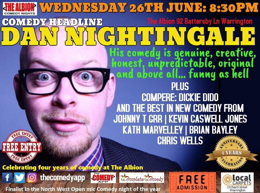 Comedy night with Dan Nightingale