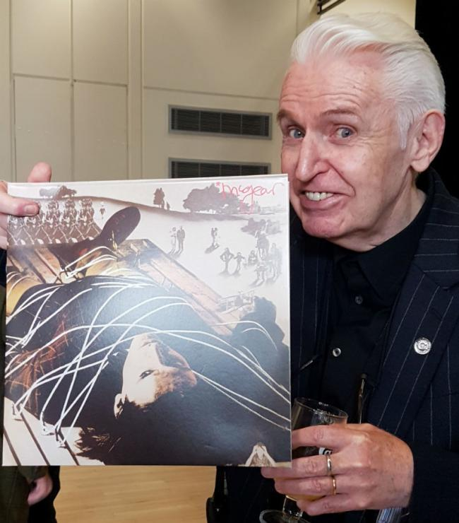 Mike McCartney with copy of the album