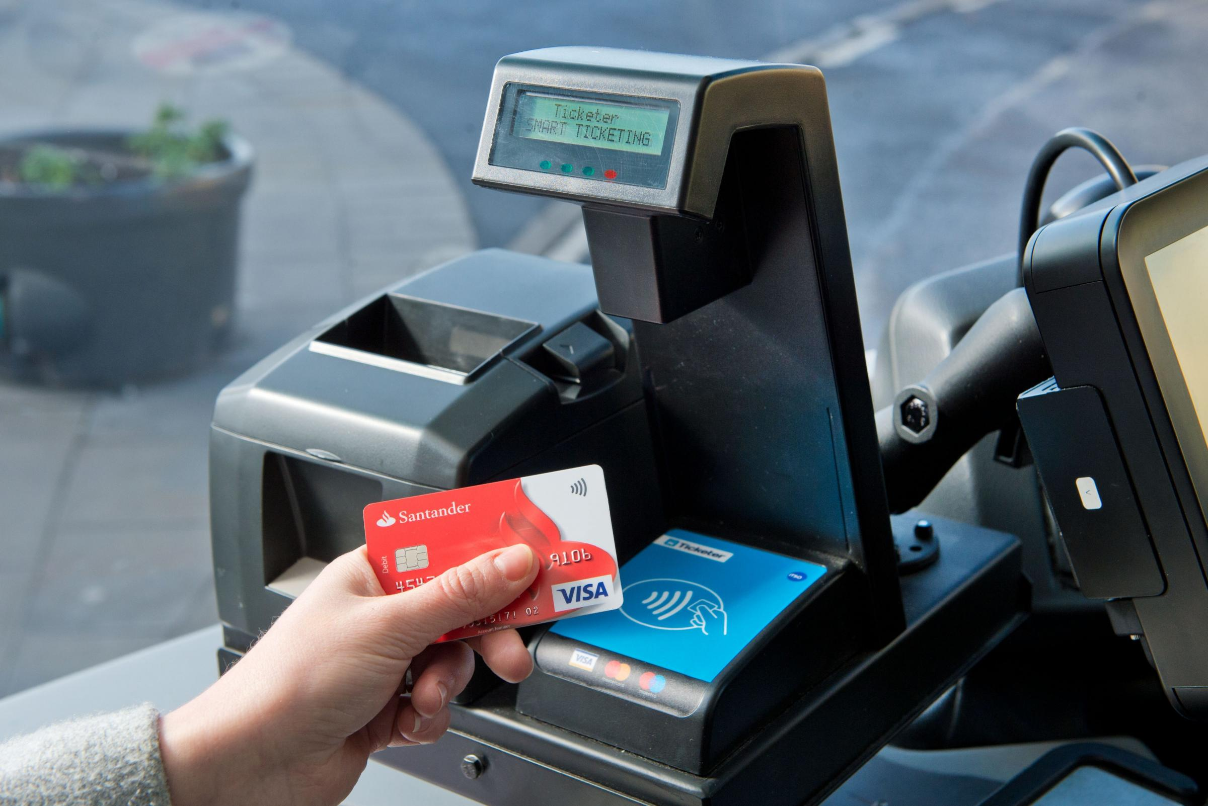 More passengers are using contactless to pay for bus journeys