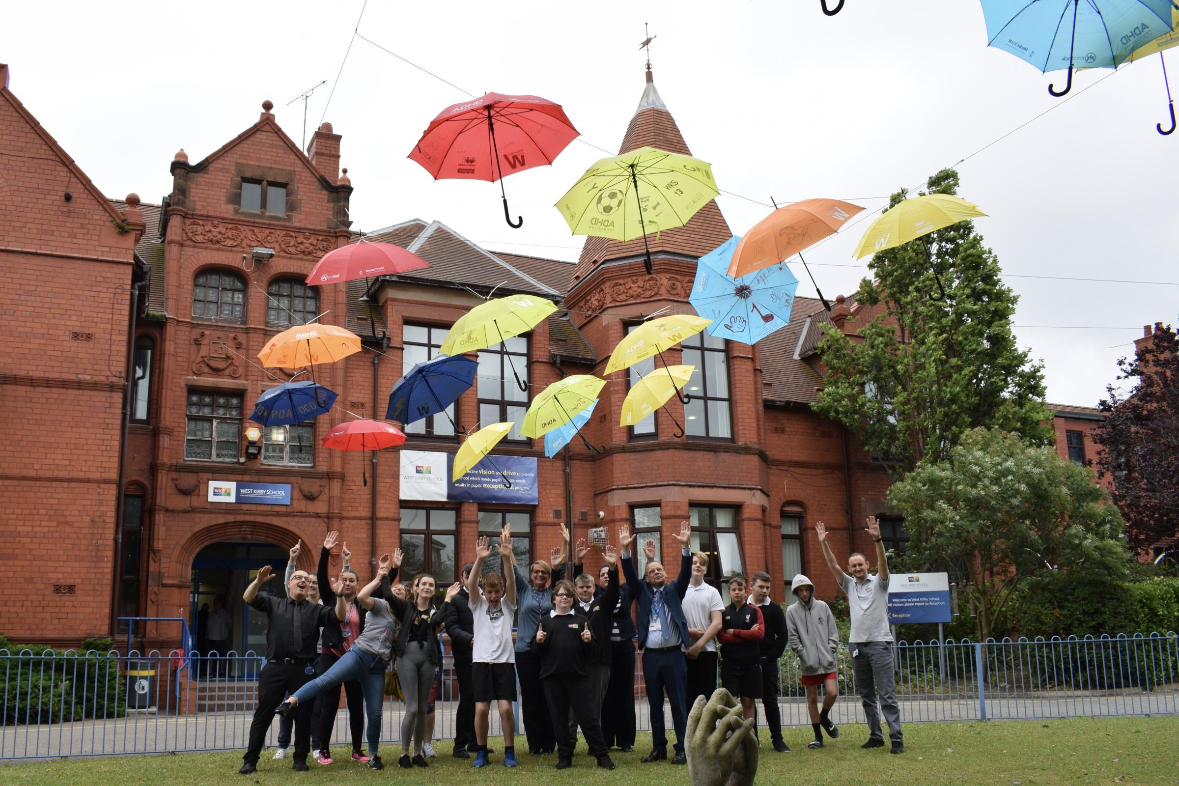 West Kirby School and College celebrates neurodiversity with its very own umbrella project