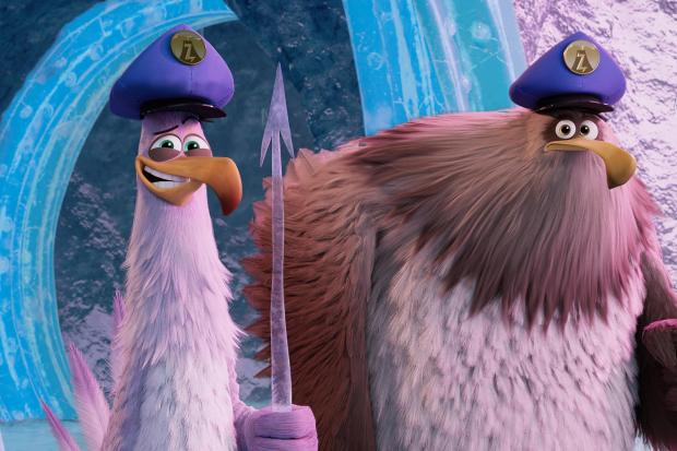 Undated film still handout from The Angry Birds Movie 2. Pictured: Carl (voiced by Zach Woods) and Jerry (Pete Davidson). See PA Feature SHOWBIZ Film Reviews. Picture credit should read: PA Photo/Rovio Animations/CTMG, Inc. All Rights Reserved. WARNING: T