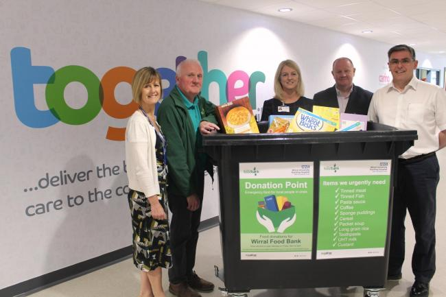 Donation Points Placed In Two Hospitals For Wirral Foodbank