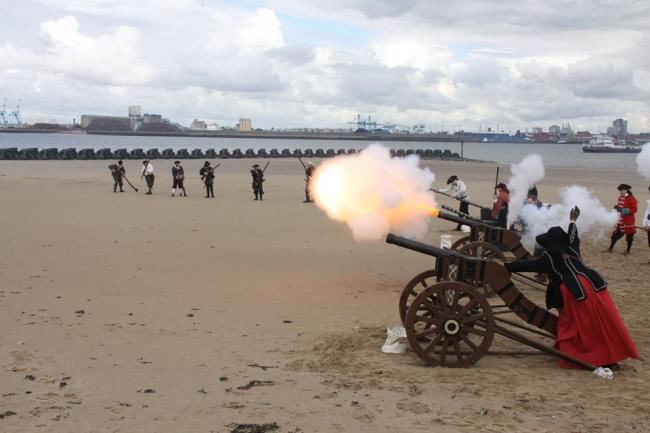 Action from last year's New Brghton Pirate Fest. Picture: New Brighton Pirate Fest Facebook page