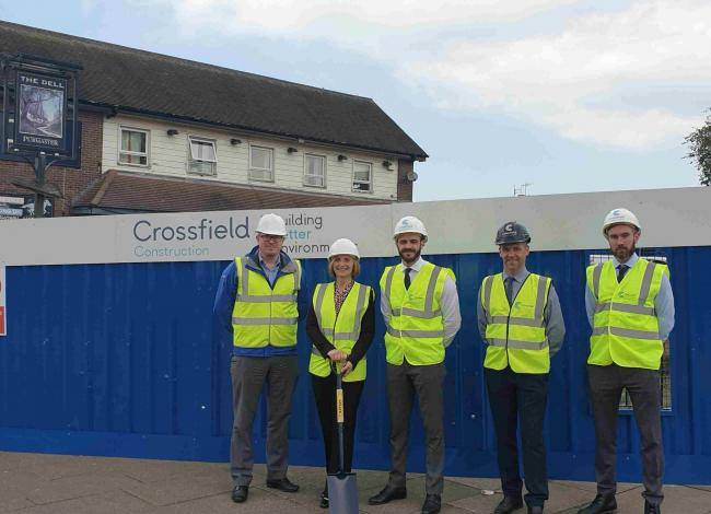 Crossfield Construction team on site of The Dell