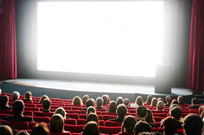 A cinema audience