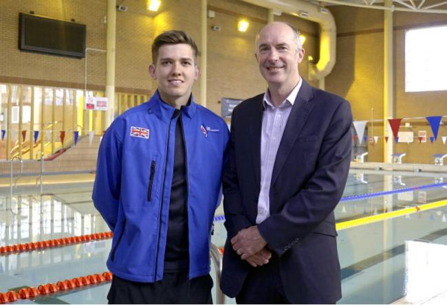 Nathan Young with Richard Mawdsley, Peel L&P director of development at Wirral Waters