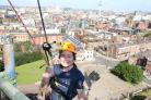 Ashleigh Boden abseiled down Liverpool Cathedral for Wirral Ark