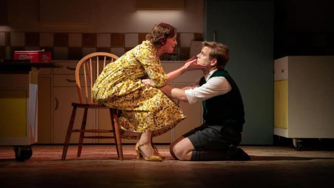 Katy Federman and Giles Cooper in scene from 'Toast'. Picture: Piers Foley