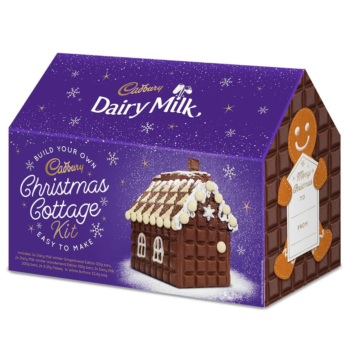 Cadbury replace the gingerbread house with chocolate Christmas cottage