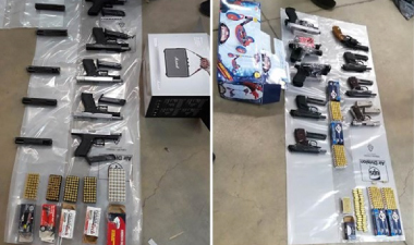 56 guns seized and 13 arrested following raids in West Kirby, Birkenhead and Bulgaria