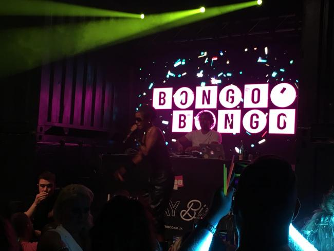 Ms Dynamite on stage at Bongo's Bingo in Content