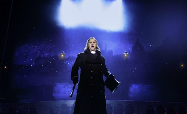 Nic Greenshields as 'Javert' in Les Miserables'. Picture: Helen Maybanks