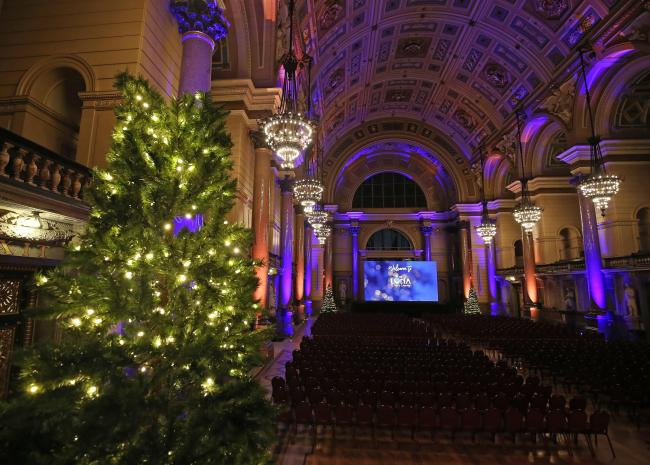 Inside the pop-up cinema at St George's Hall