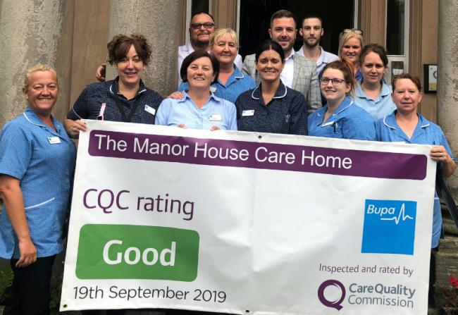 Staff at The Manor House, which has been awarded a 'good' Care Quality Commission rating