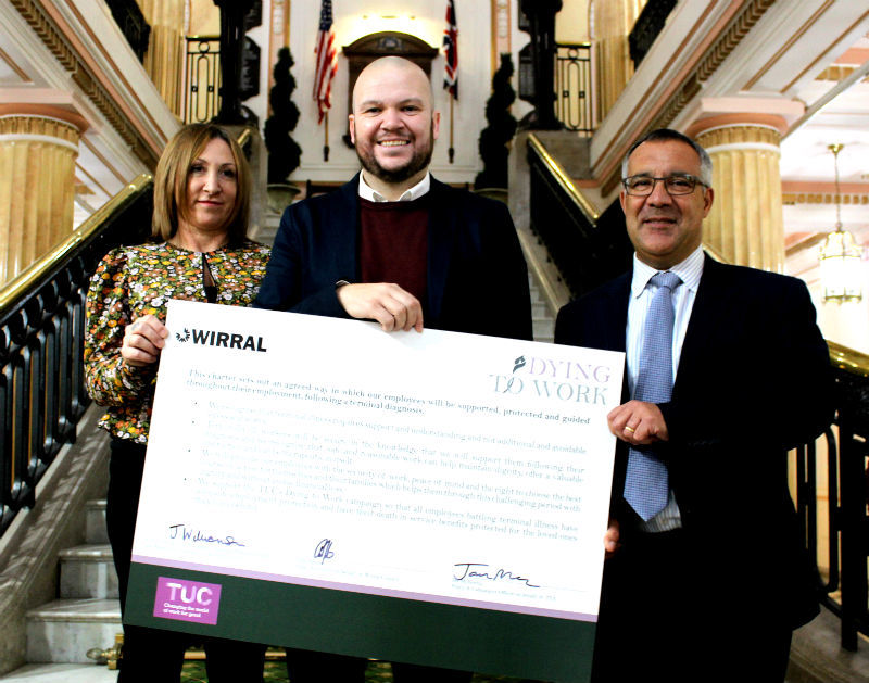 Wirral Council commits to TUC's Dying to Work Charter