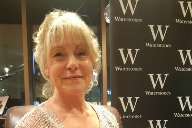Gina Kirkham durng signing session at Waterstones in Liverpool One