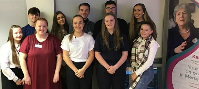 The Youth Ambassadors appointed by Police & Crime Commissioner Jane Kennedy