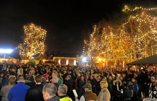 The lights following switch on at Wirral Hospice St John's last year. Picture: Paul Heaps