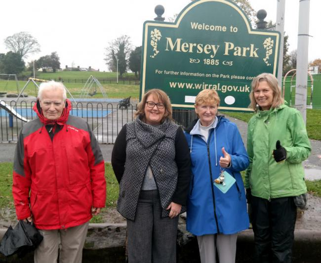 Cllr Julie McManus and Friends of Tranmere Parks at Mersey Park