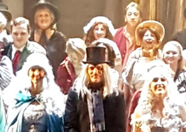 The cast of Birkenhead Operatic Society Trust's 'A Christmas Carol'. Picture: Literally Productions