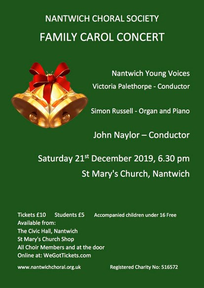 Nantwich Choral Society's Family Carol Concert
