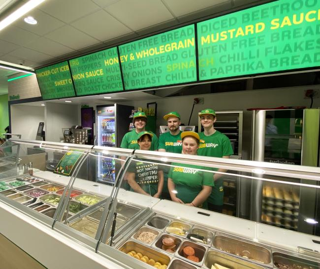 The team behind Subway's Townfield Lane store which has undergone a 'Fresh Forward' makeover