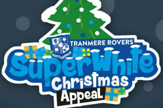 Tramere Rovers 'Super White Christmas campaign logo'