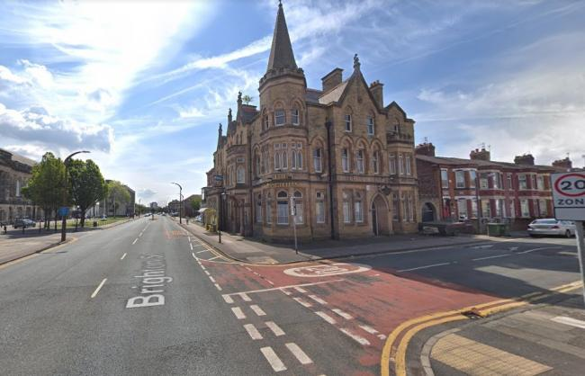 Emergency services were called to the junction of Brighton Street and Buchanan Road in Wallasey (Google Maps)