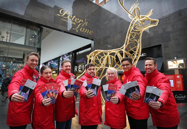 Liverpool ONE's Christmas Concierge team (Picture: Gareth Jones)