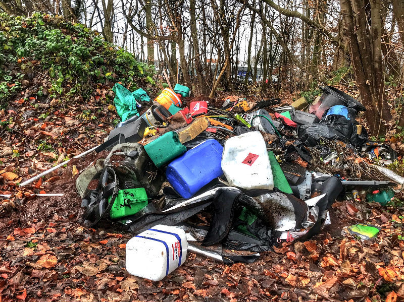 Flytippers dump near Wirral Autism Together charity - again