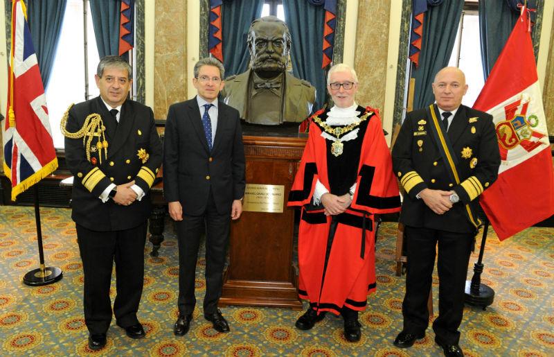 Peruvian naval hero Admiral Miguel Grau's Birkenhead links honoured
