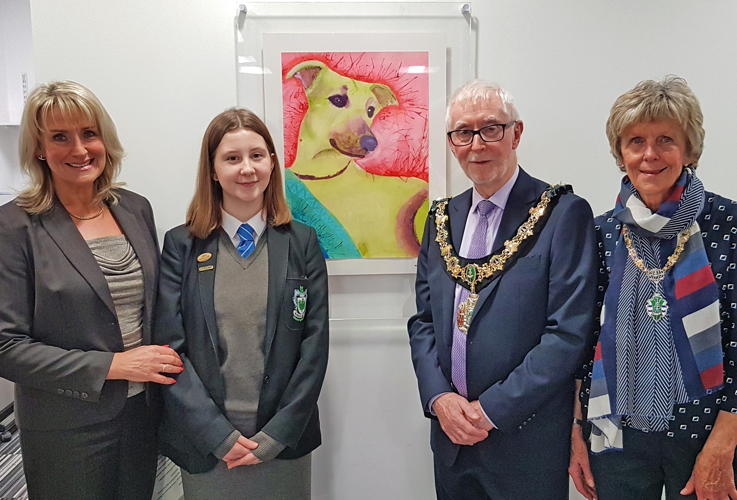 St Catherine's Health Centre welcomes local young artists