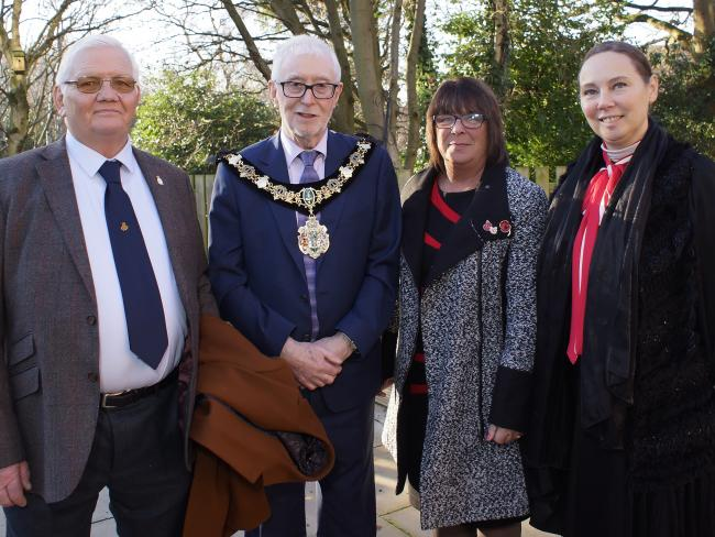 Tony and Margaret Boote with the Mayor of Wirral (Picture: Phillip Kirby)