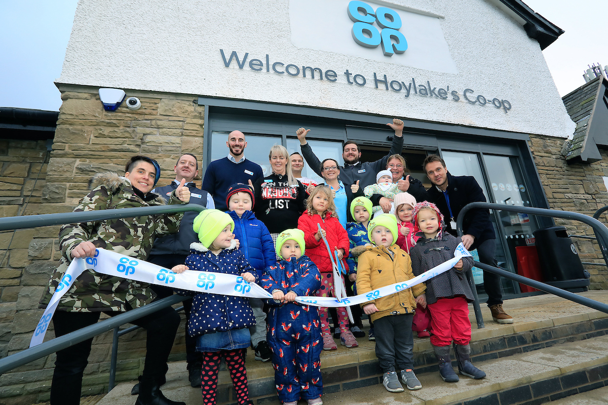 Nursery children are guests of honour at opening of Hoylake's new Co-op