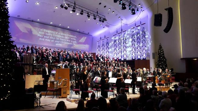 The Philharmonic's Spirit of Christmas concerts on until December 22. Picture: Catherine Jones.
