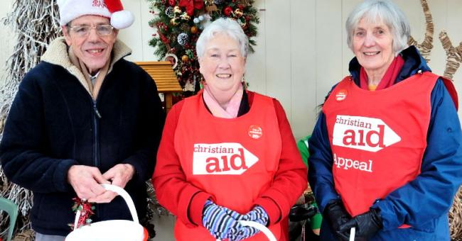 Neston and Christian Aid Committee volunteers during collection