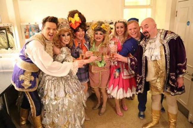 Cast members of Epstein Theatre production 'Cinderella' celebrate their record-breaking run of shows