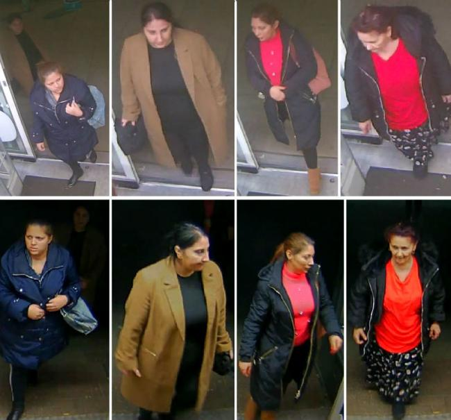 Detectives investigating thefts at Co-op stores in Bebington and Tranmere have released CCTV images of four women wanted in connection with them.
