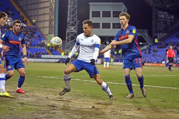 Wirral Globe: Tranmere's Kieron Morris gets the ball under control against Sunderland. Photo: Tony Coombes