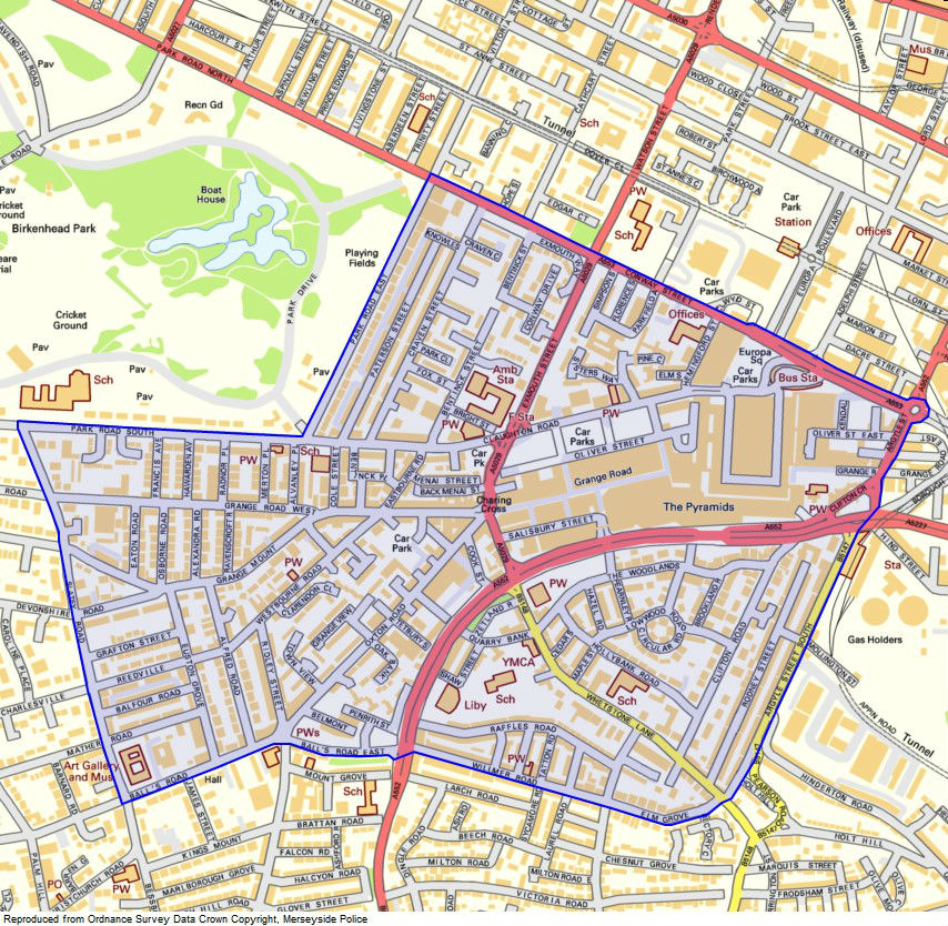 Dispersal zone to crackdown on anti-social behaviour in Birkenhead this weekend
