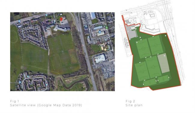 Map shows Tranmere Rovers Solar Campus groundd