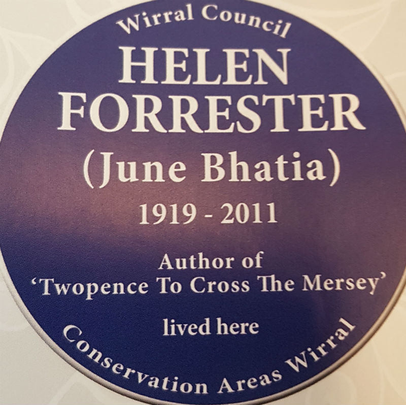 Blue plaque unveiled for Wirral author Helen Forrester