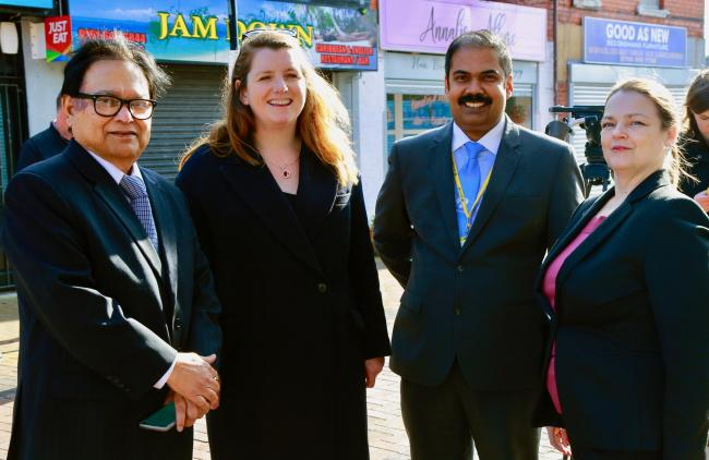 Left to right - Dr Anjani Kumar, (LTC Global partner), MP Alison McGovern, Mathew Alexander and Helen Romnes