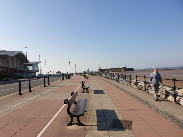 Wirral Globe: Marine parade, New Brighton. Photo: Richard Garnett