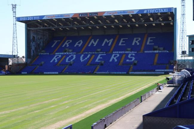 Tranmere have installed a new Desso football pitch during lockdown. Photo: Richard Garnett