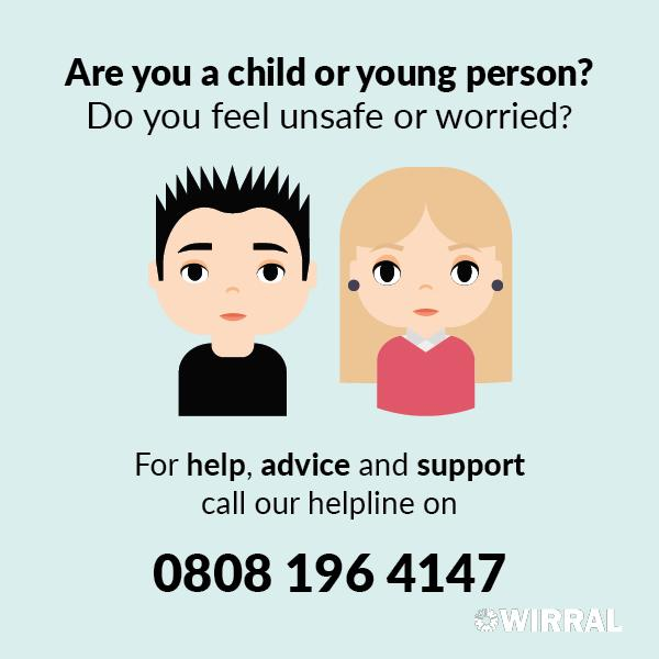 Wirral Council has launched a new helpline for children and young people