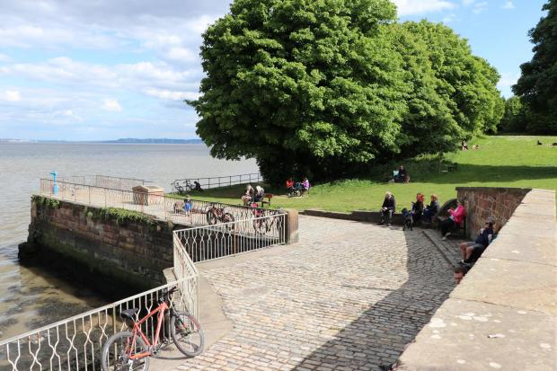 Wirral Globe: Eastham Ferry is normally always busy on Bank Holiday weekends