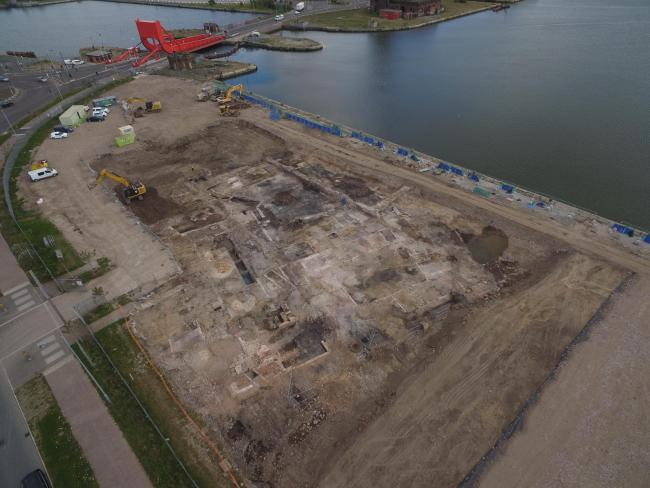 Workers at the Northbank development have found evidence of Wirral's industrial past