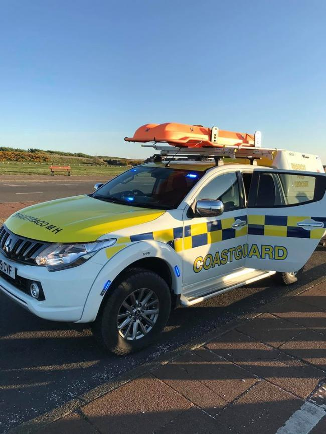 Coastguard patrol vehicle in New Brighton. Picture supplied by Michael Buratti, station officer for Wirral Coastguard Rescue Team