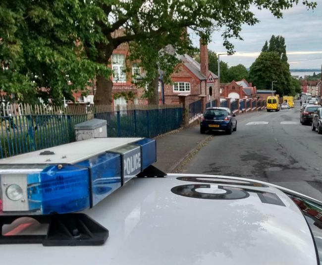 Part of the police cordon in Dowham Road following incident in Linwood Road, Tranmere this evening. Picture: Craig Manning